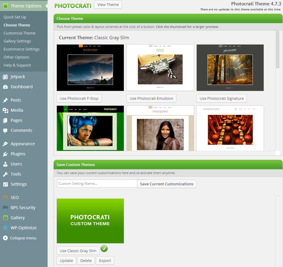 Photocrati Theme & Presets