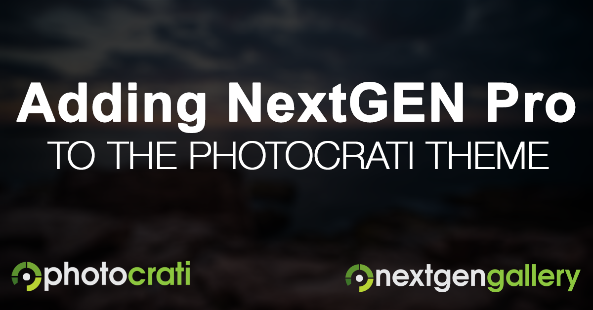 Adding NextGEN Pro To The Photocrati Pro Theme