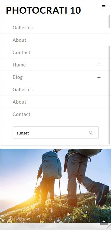 Search option on mobile screenshot